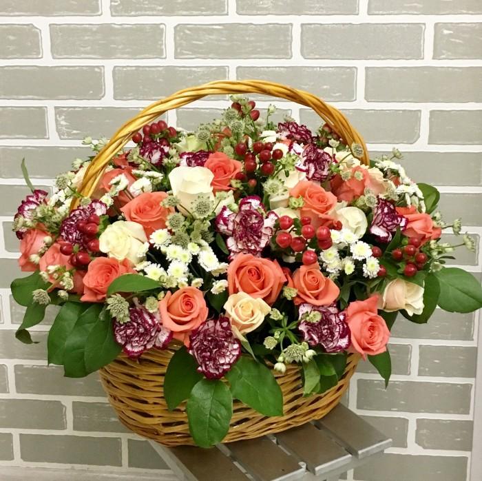 Увеличить - Юбилей-Большая корзина с цветами