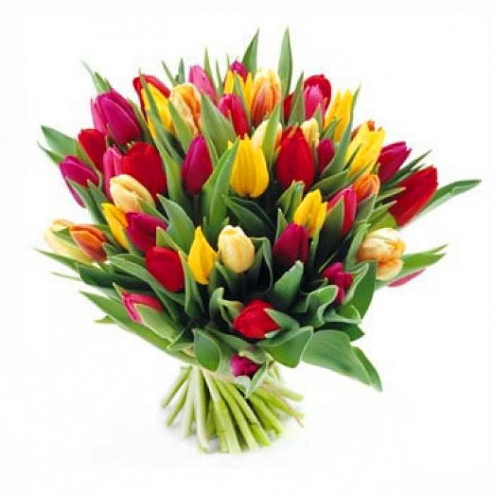 Увеличить - Букет из тюльпанов