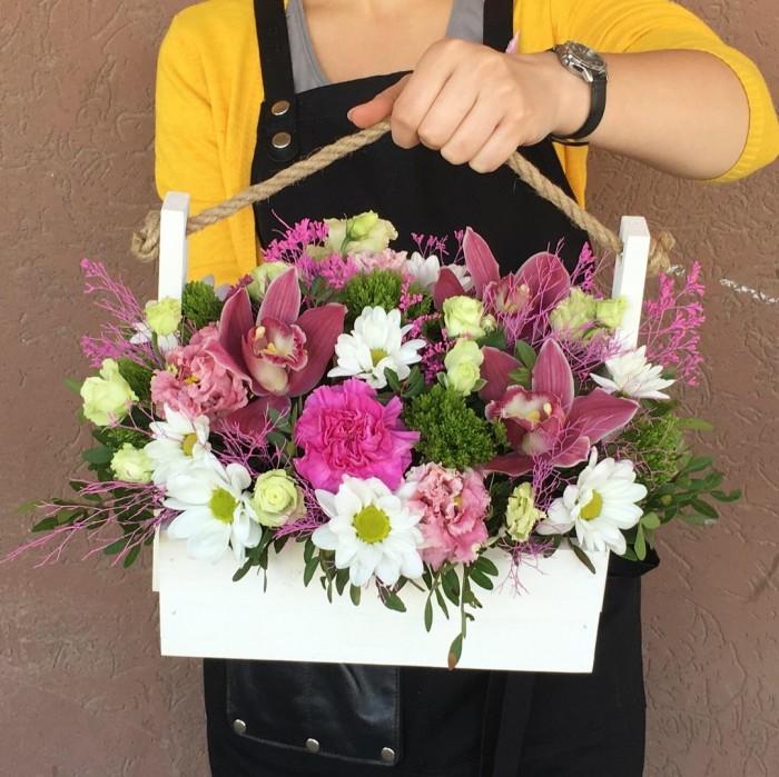 Увеличить - Ящик с цветами №9